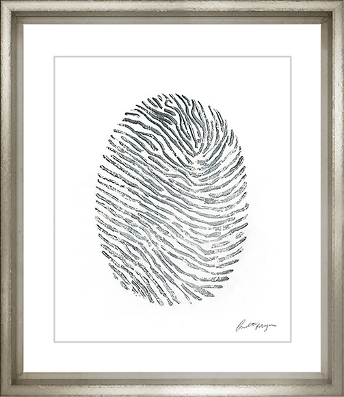 Hand Painted Silver Fingerprints